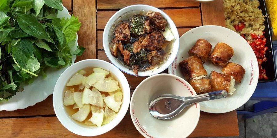 One of my favourite meals in Hanoi: Bun Cha at Bun Cha Dac Kim