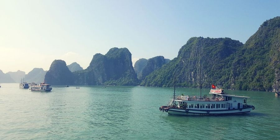 Spend a day or two cruising around the islands of Halong Bay