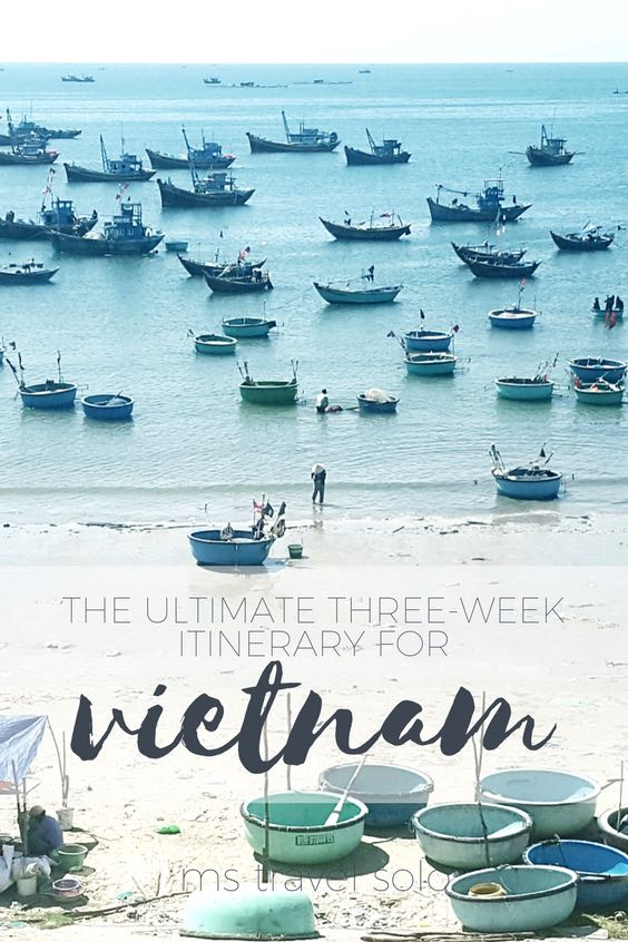 Have you always wanted to visit Vietnam but not sure where to go? Here is the ultimate three week itinerary from north to south of Vietnam. Don't forget to pin in on your Pinterest travel board. #solotravel #vietnam #itinerary #solotravelguide