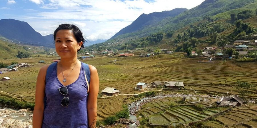 Hiking through the rice fields on a sunny day is one of the highlights of my trip to Sapa, Vietnam