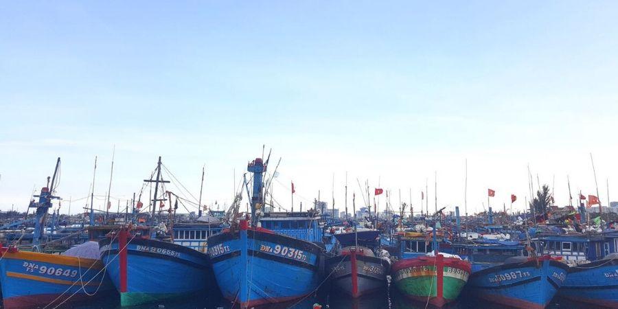 The boat pier in Da Nang, Vietnam