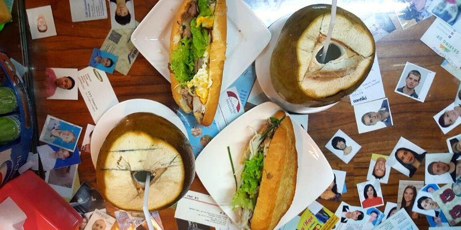 The delicious banh mi at Banh Mi Phuong