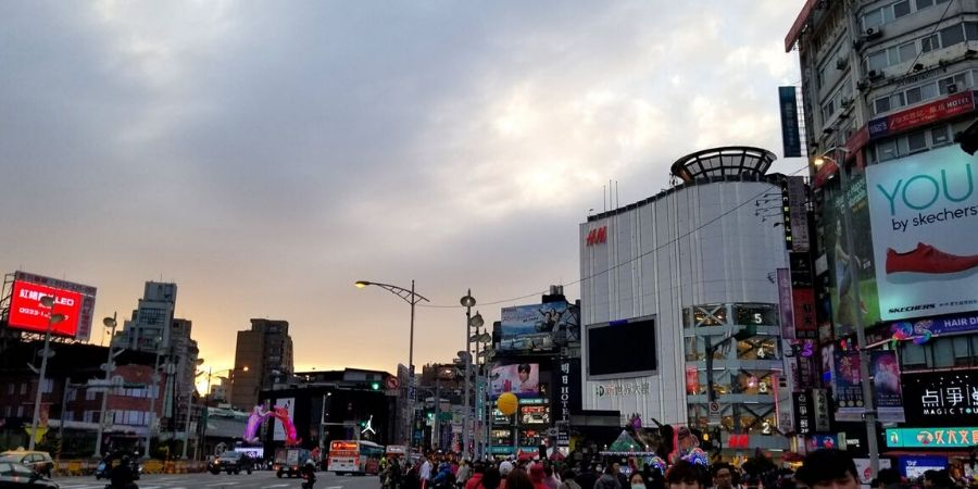 Solo travellers will enjoy the bustling area of Ximending in Taipei.