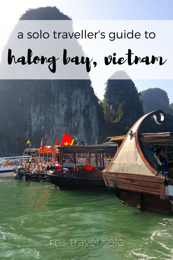 Halong Bay is pure magic! There are many tours, many different boats, and so many things to do! Check out my solo guide on Halong Bay and don't forget to pin it to your Pinterest board. #solotravel #vietnam #halongbay #travelsolo #solotravelguide