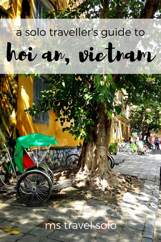 Hoi An is quaint little town in the centre of Vietnam. You will love the lantern lined streets, delicious central Vietnamese cuisine and all the UNESCO Heritage sites. Check out my solo traveller's guide on Hoi An, Vietnam. And don't forget to pin it on your Pinterest board. #solotravel #solotravellersguide #vietnam #hoian