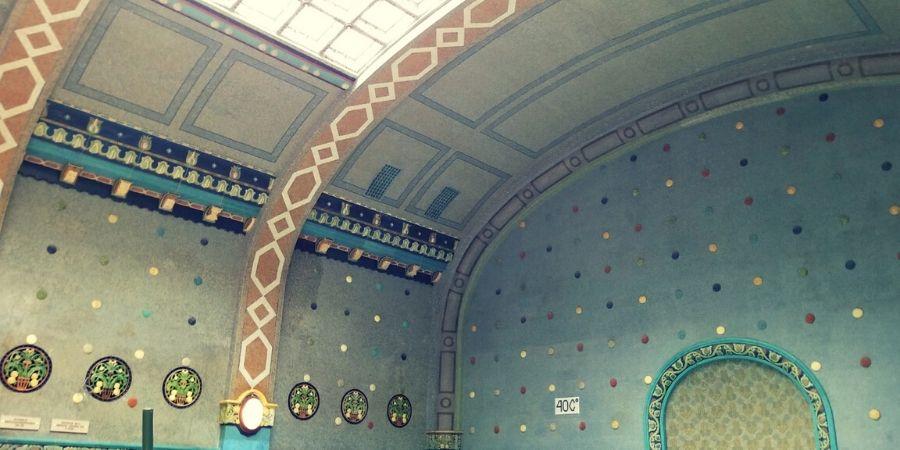 Moasic interiors of Gellért Thermal Bath