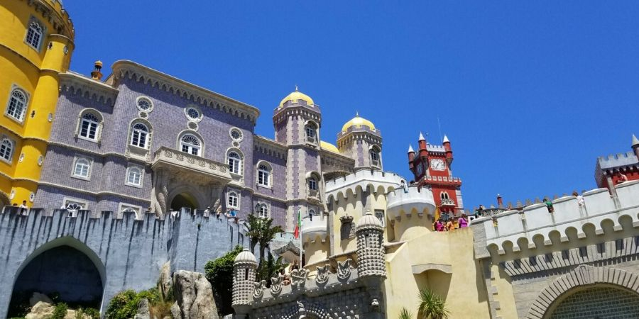 The colourful Pena Castle is not to be missed in Sintra, Portugal