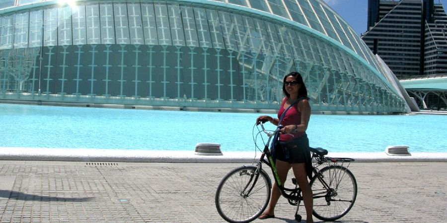Riding a bike in Valencia, Spain is one of the best ways to see the city