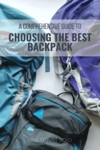 Using a backpack has changed the way I travel. I tend to travel a lot less and be more conscious of what I bring with me. But I wasn't always a light traveller! Check out my post on choosing the best backpack! #backpack #solotravel #travel #travelsolo