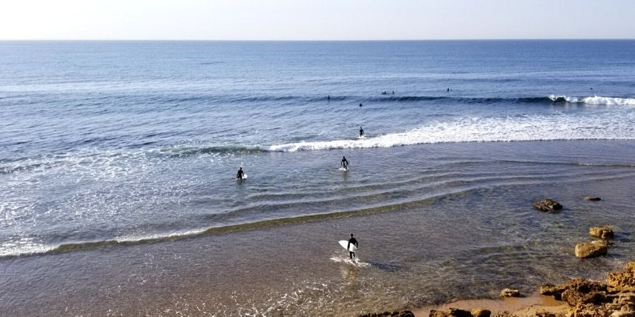Surfers from all over the world surf at Winkipop.