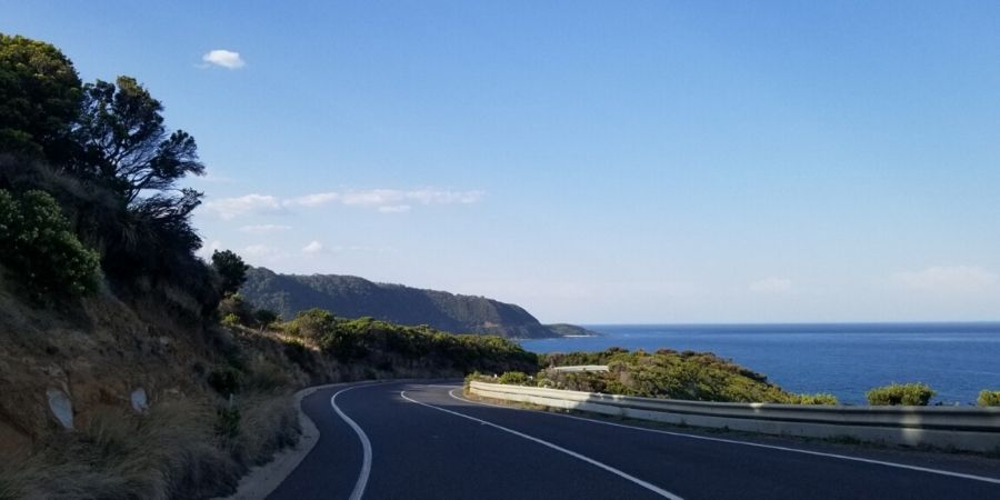 Scenic views from Great Ocean Road