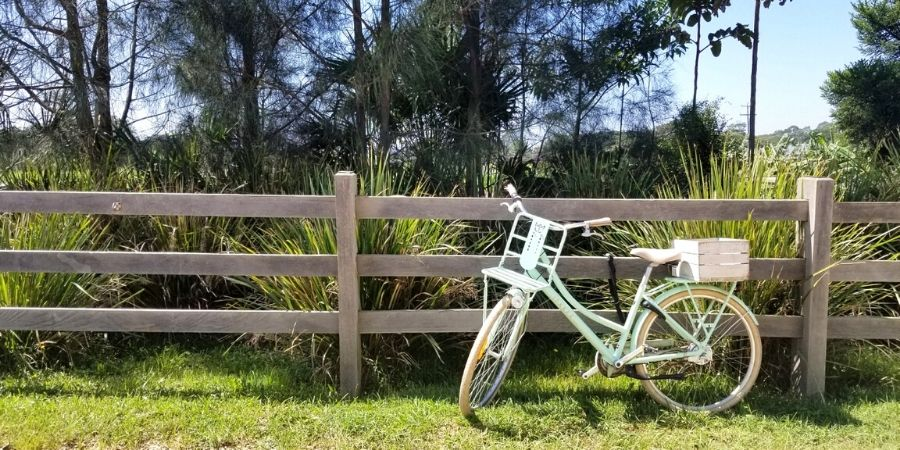 Rent a retro Lekker Jordaan bike and cycle to The Farm for delicious food in a barnyard setting