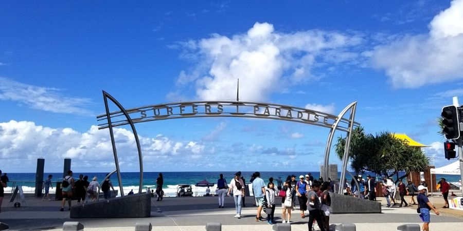 The famous Surfers Paradise Beach is a top spot for surfers from around the world
