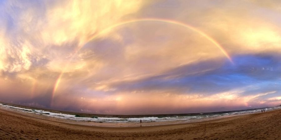 Gold Coast has some of the best sunsets! Just take a look at the double rain at Miami Beach