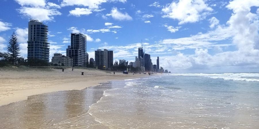 View of Surfers Paradise in Gold Coast, Australia