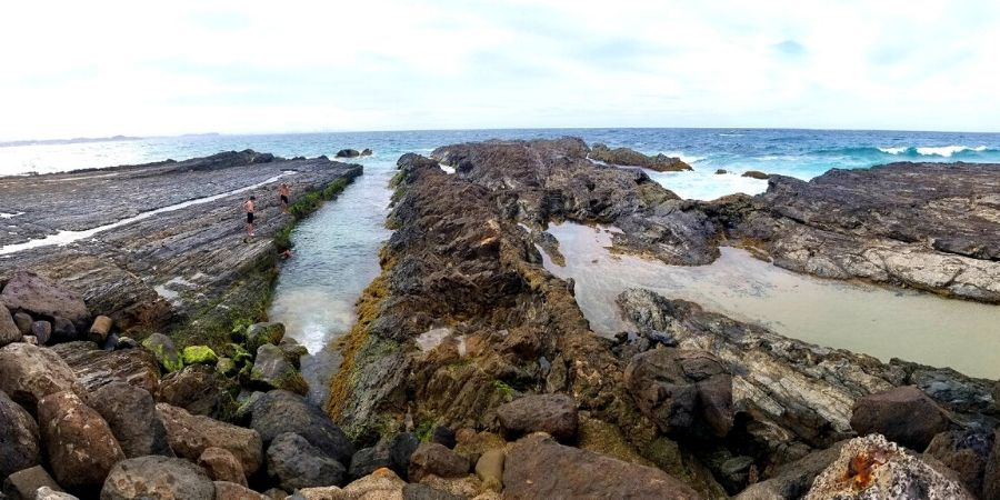 Take a dip in nature's swimming pool, Snapper Rocks in Coolangatta during low tide.