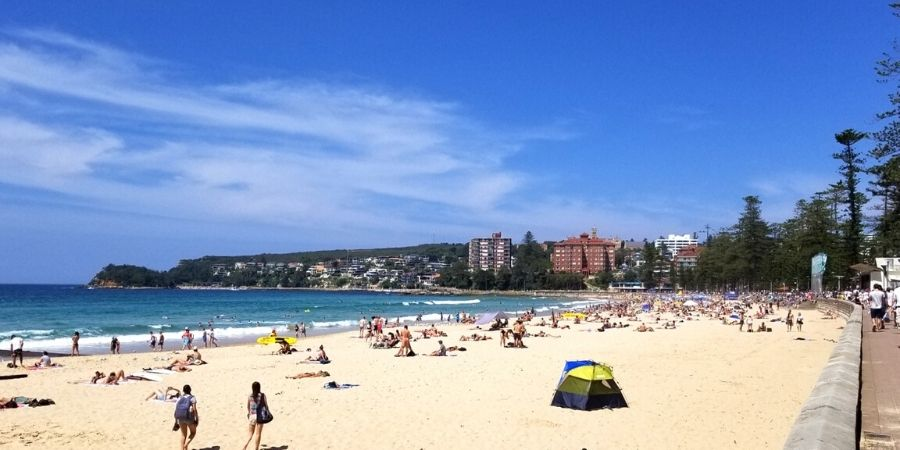 Spend the day sunbathing or surfing on Manly Beach