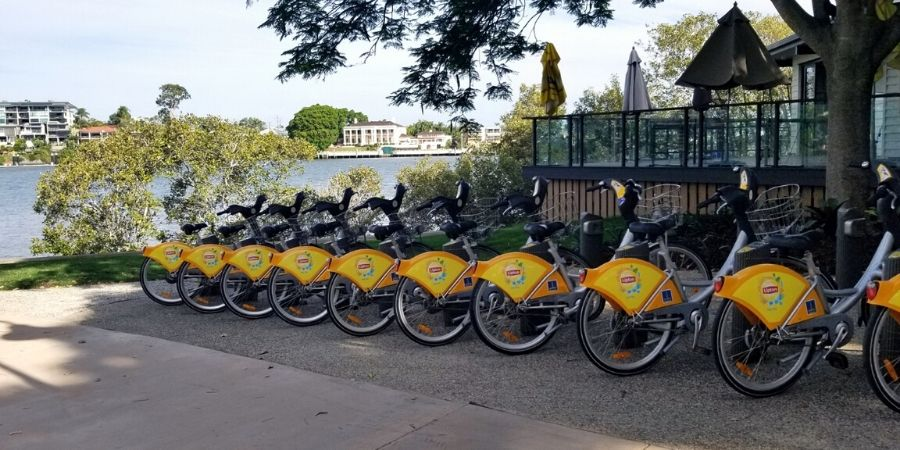 CityCycle has over 150 stations all over Brisbane