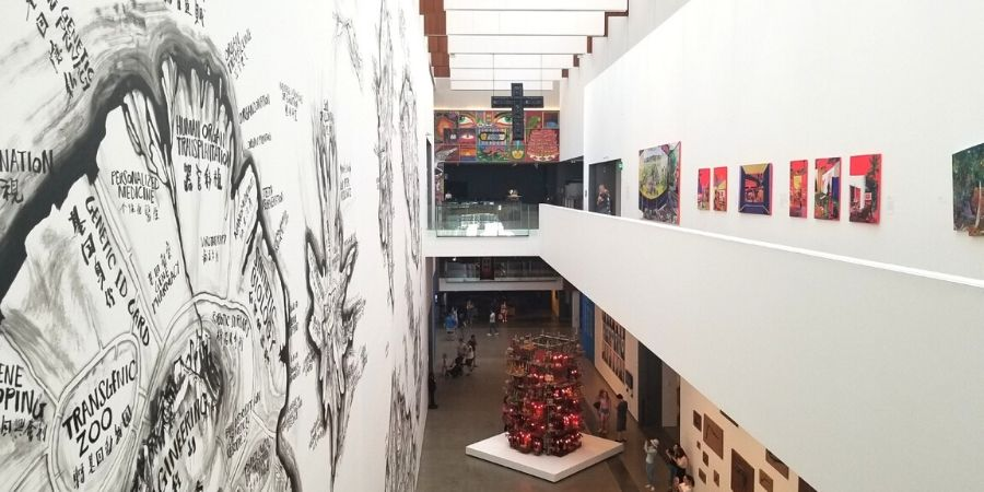 Spacious modern interiors of the Gallery of Modern Art (GOMA)