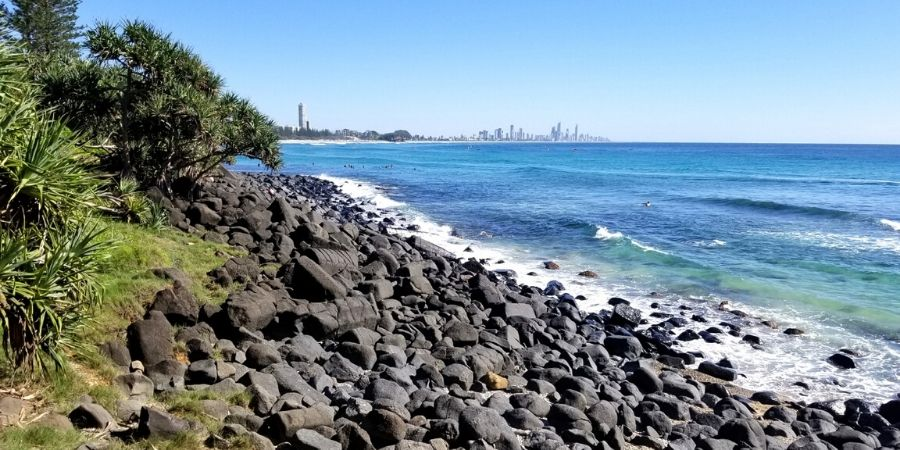 Bask in the glorious sun at the beaches of the Gold Coast in Queensland.