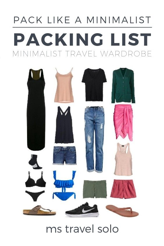 Use my packing list as a guide to create your own minimalist capsule wardrobe for your next trip