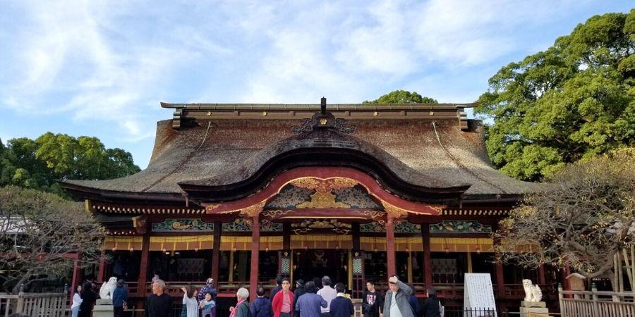 Many students visit Dazaifu Tenmangu Shrine and wish for good luck on their exams.