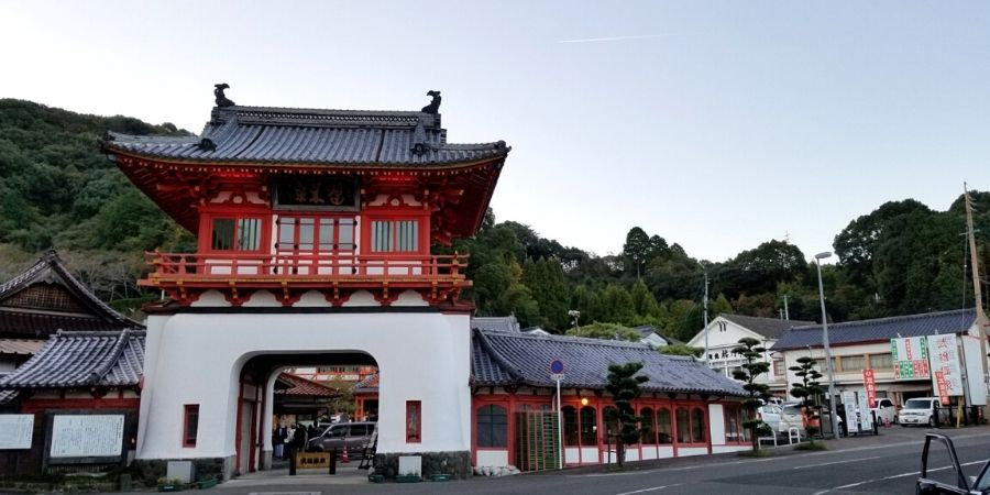 The Take-Onsen Tower is the entrance to the ancient hot spring