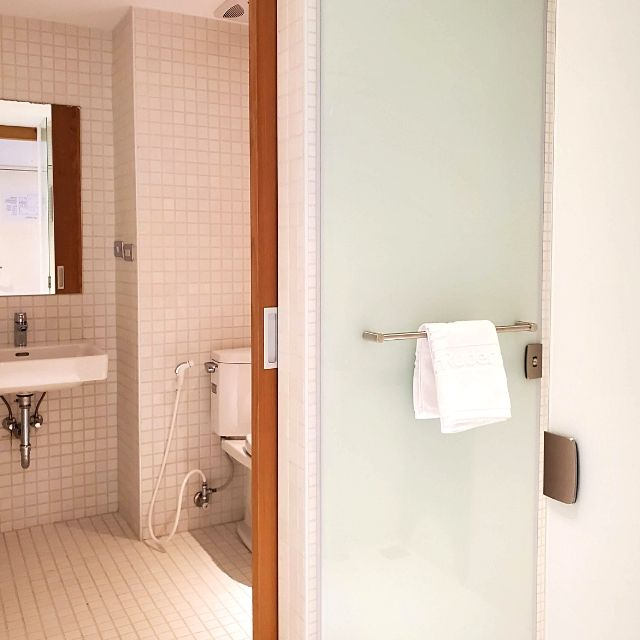 The shared bathroom is clean and spacious. It is only shared by two people.