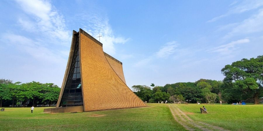 Luce Chapel is part of the property of Tunghai University.
