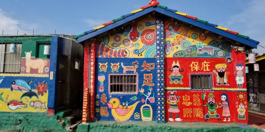 Visit all the colourful houses at Rainbow Village in Taichung