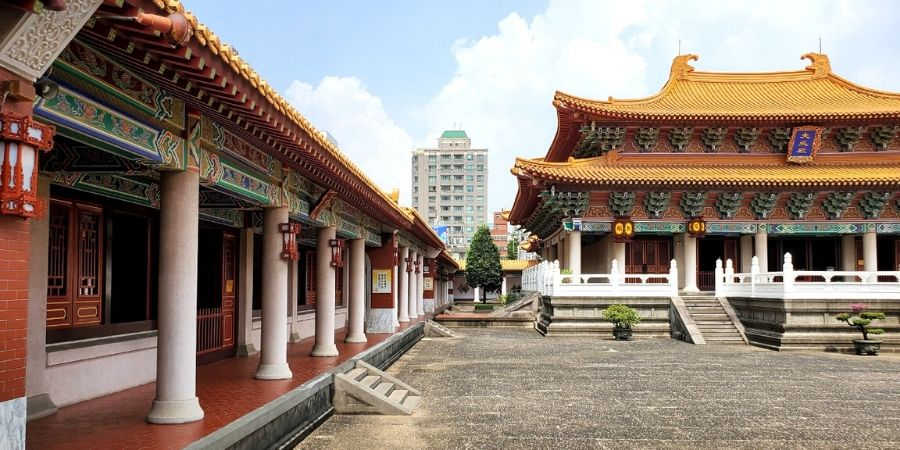 Enjoy the intricate architectural details at Taichung Confucius Temple.