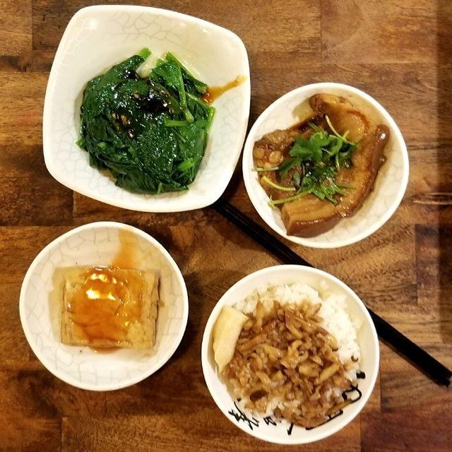 Try various Taiwanese classic dishes at 西門金鋒魯肉飯 (XiMenGinfong) as the portions are quite small.