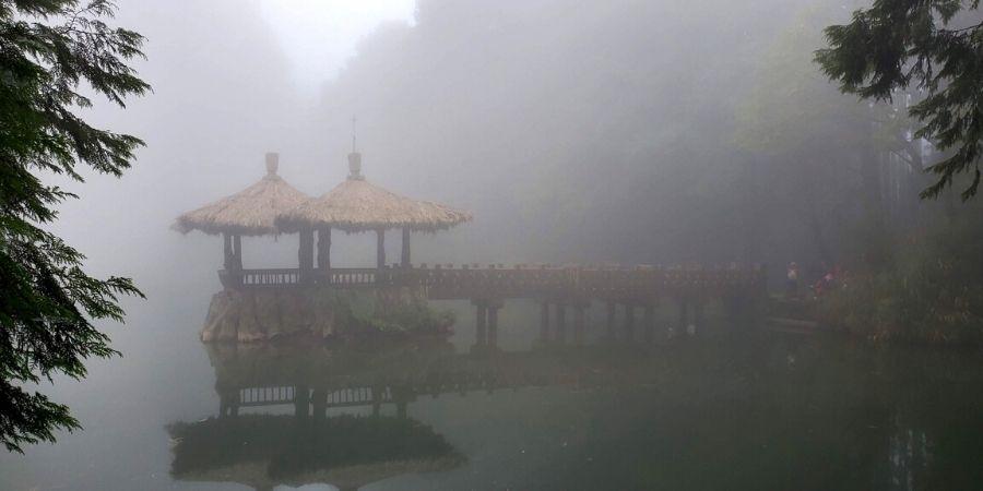 Hopefully, it won't be foggy when you visit Jiemei (Sister) Ponds.