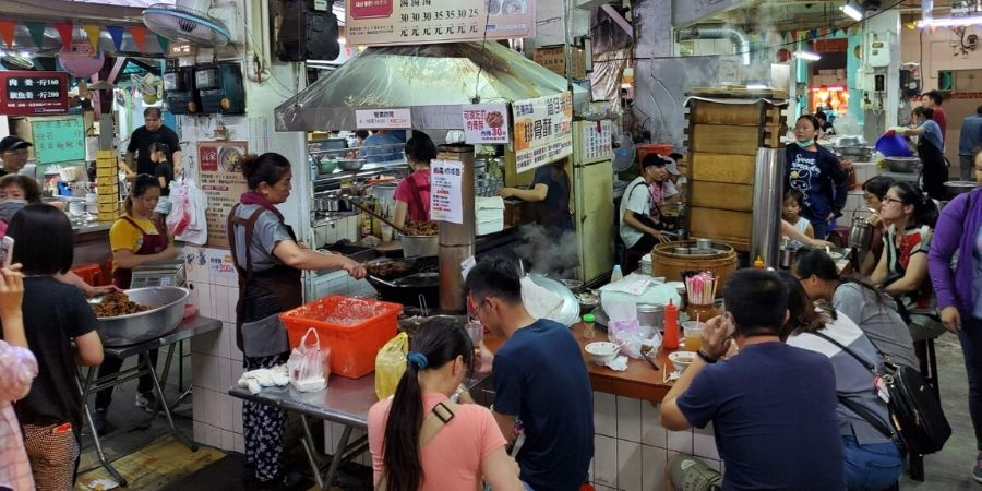 The East Market is popular with residents where many food vendors serve authentic Taiwanese food.