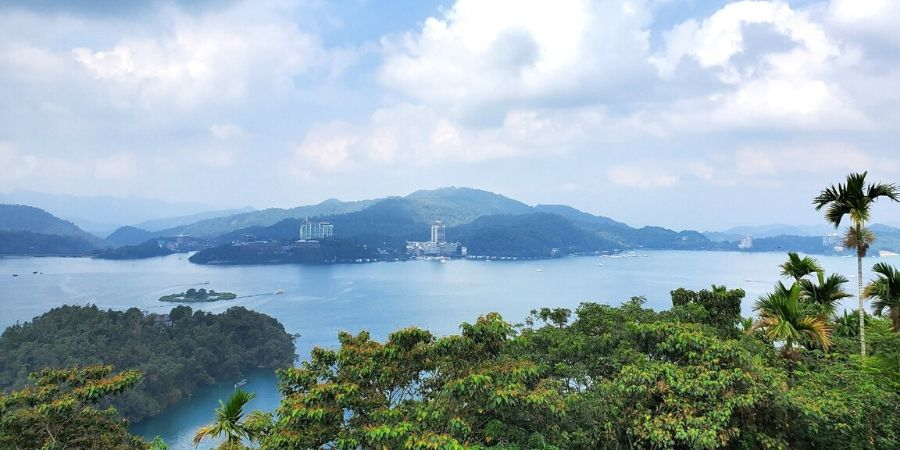 One of the best views of Sun Moon Lake is viewed from Xuanzang Temple.