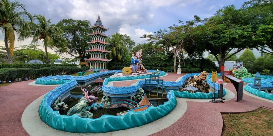 Haw Par Villa has many quirky, weird and colourful figurines throughout the park.