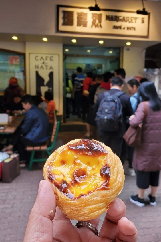 Portuguese tart at Margaret's Cafe e Nata