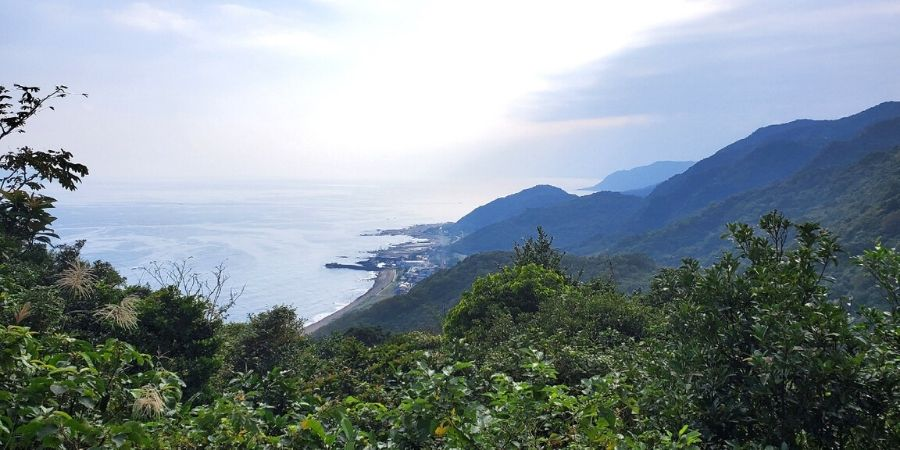 View of east coast Taiwan from Caoling Historic Trail