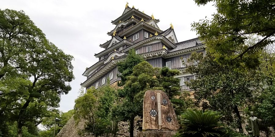 Okayama Castle in Okayama City