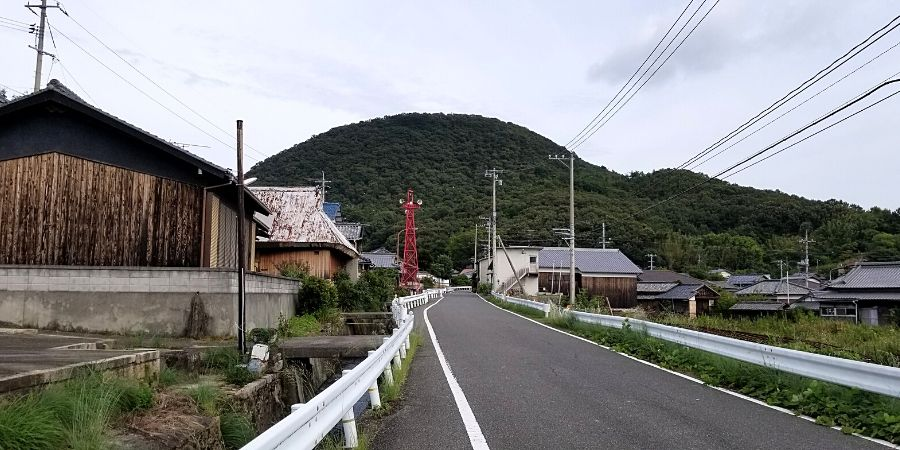 When you bike around the art island, you will see villages along the route