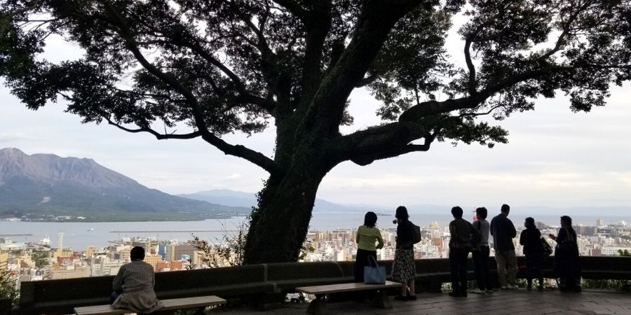 View of Kagoshima from Shiroyama Observatory
