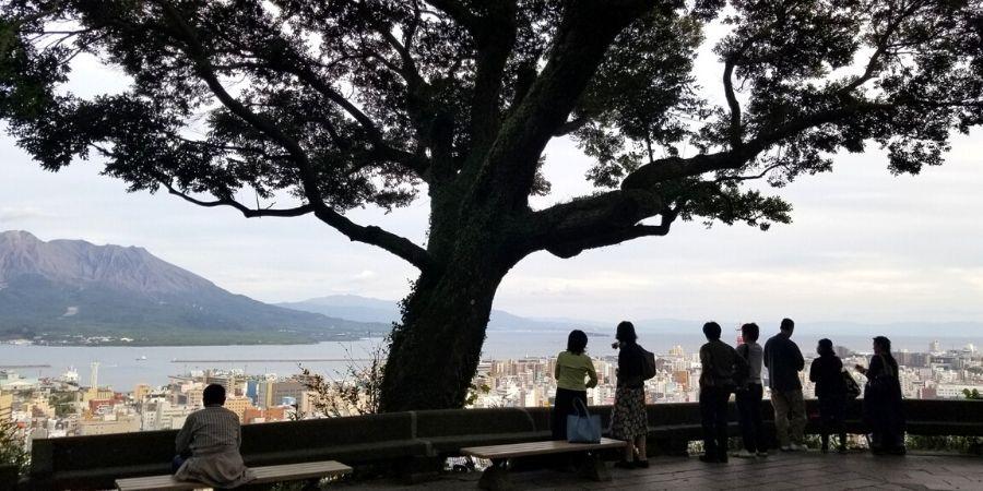 View of Kagoshima from Shiroyama Observatory