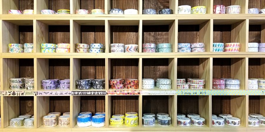 Rows of Washi Tapes in Tanex612 Factory