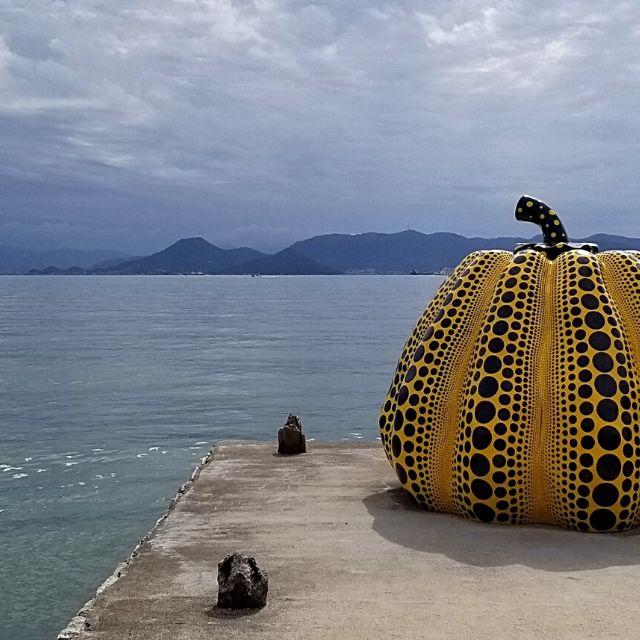 Yayoi Kusama's Yellow Pumpkin aka Naoshima Pumpkin