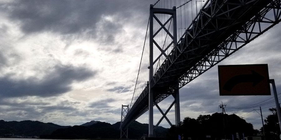 Biking on Shimanami Kaido: Innoshimao Bridge