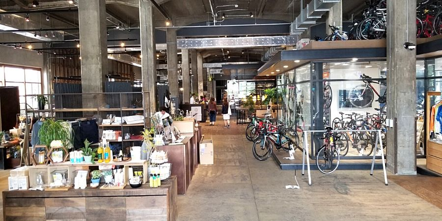 Onomichi U2 Hotel has a general store, bakery, restaurant and bike shop