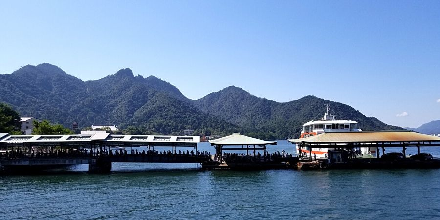 Miyajima ferry at Itsukushima Ferry Terminal