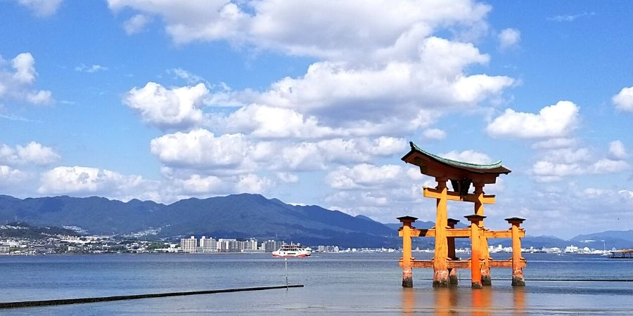 Itsukushima Floating Torii Gate during high tide