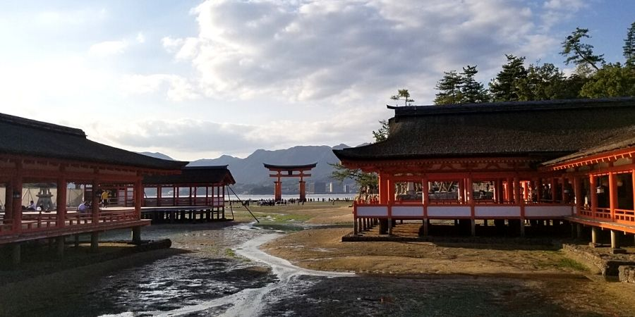 Itsukushima Shrine and Itsukushima Floating Torii Gate in Miyajima