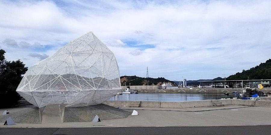 Art sculpture near Miyanoura Port on Naoshima Island